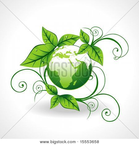 vector green earth beautiful design