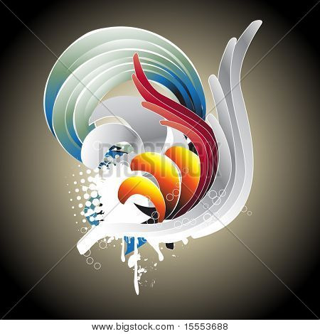 Abstract vector colorful design. Place your text or artwork.
