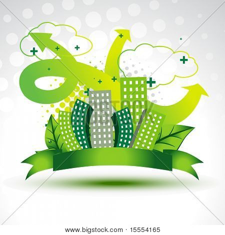 vector clean green city background