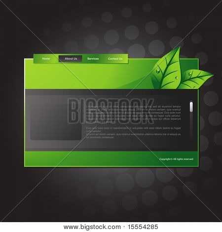 vector editable website template design