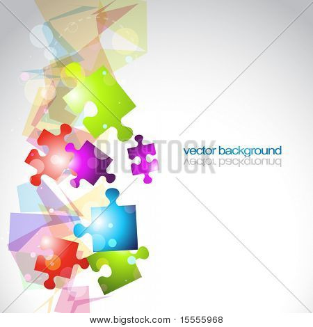 abstract vector puzzle shapes eps10 background