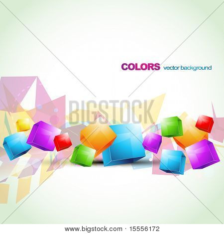 stylish colorful cube abstract design artwork. Eps10 background