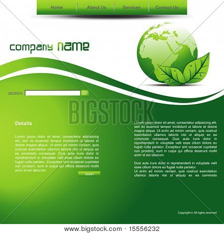 eco theme vector website layout design