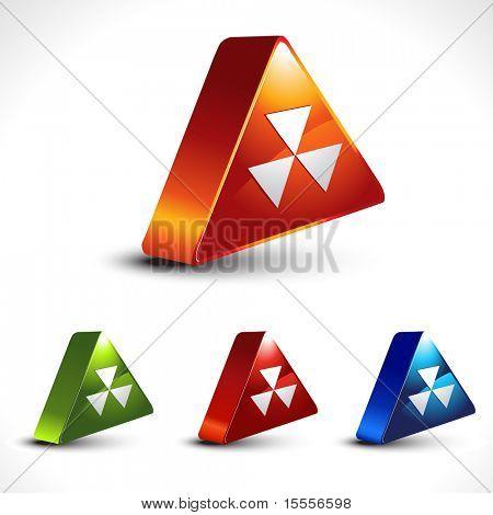 vector hazard icon shape