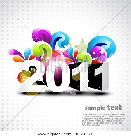 artistic new year background colorful design