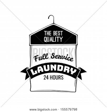 Case For Clothes. Dry Cleaning Label. Laundry Badge. Vector Illustration
