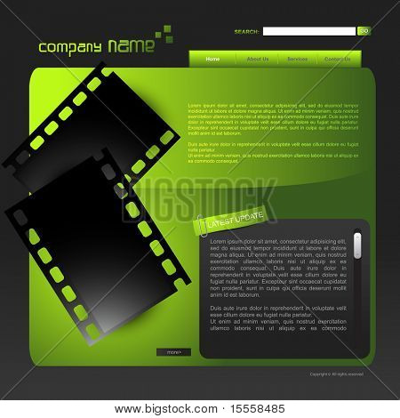 vector web template stylish design