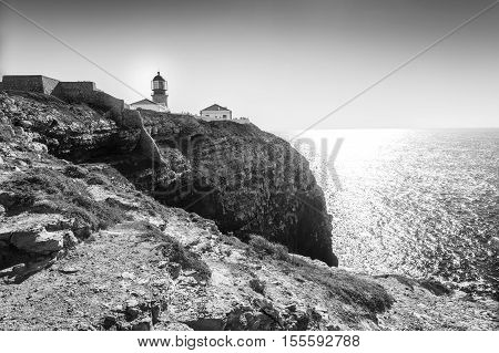 Lighthouse On The End Of Saint Vincent Cape, Portugal