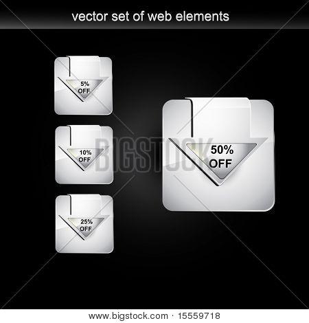Web pantalla venta etiqueta conjunto