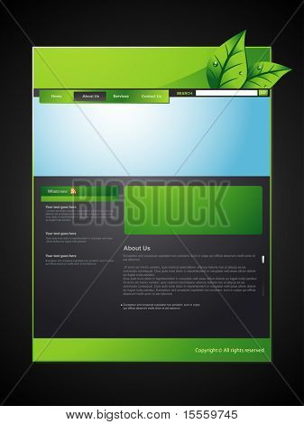 Vektor-Eco-Web-Layout-design