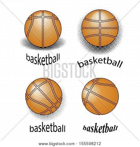 Basketball Creative Grunge Logo Design Isolated on White Background.