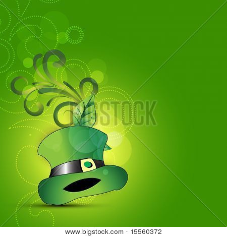 Leprechaun`s St. Patrick's Day hat design