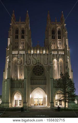 Washington D.C. USA - January 21 2016: Washington National Cathedral