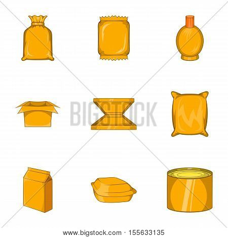 Packing icons set. Cartoon illustration of 9 packing vector icons for web