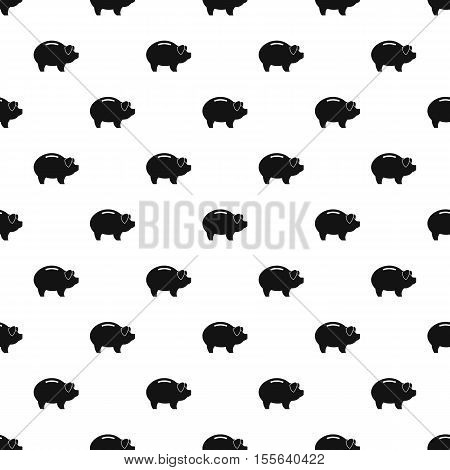 Piggy bank pattern. Simple illustration of piggy bank vector pattern for web