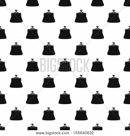 Retro purse pattern. Simple illustration of retro purse vector pattern for web