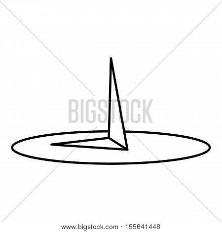 Pushpin icon. Outline illustration of pushpin vector icon for web design