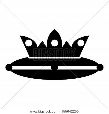 Crown on a pillow icon. Simple illustration of crown on a pillow vector icon for web design