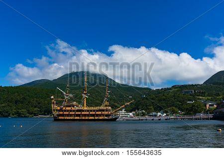 Pirate Cruise Ship On Ashi Lake, Hakone, Japan