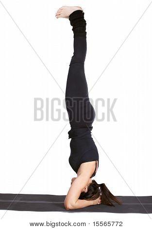 Yoga Excercising Shirshasana