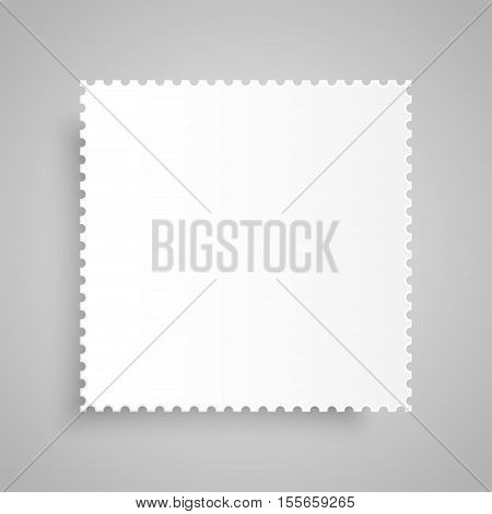 Paper banner template for business design, infographics. Vector illustration eps10. Vector object for your idea. Mockup. Postage Stamp.