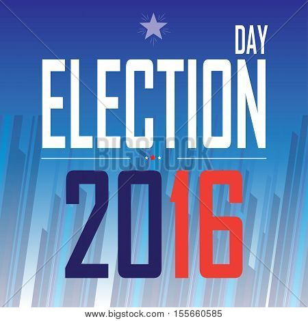 American Presidential Election 2016 card, banner, poster. For Election day, Vote - Web banner, Poster or brochure template. Vector illustration.