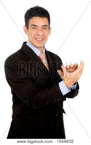Homem de negócios aplaudindo