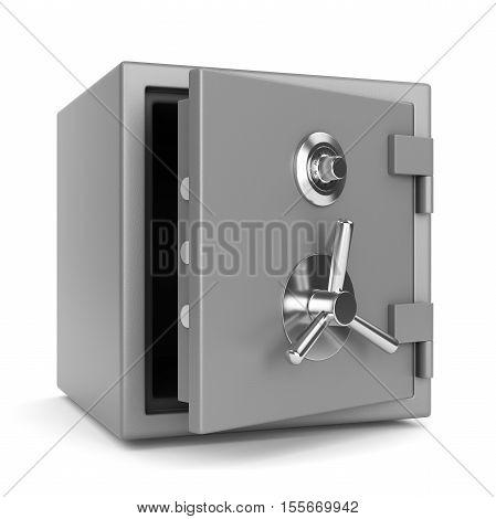 Open Metal Bank Safe