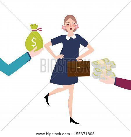 good payment money salary offer jobs career vector
