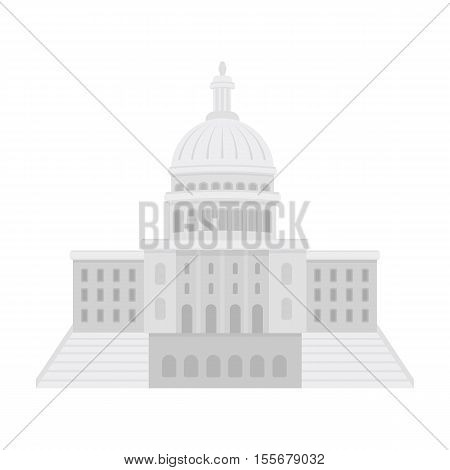 United States Capitol icon in cartoon style isolated on white background. USA country symbol vector illustration.