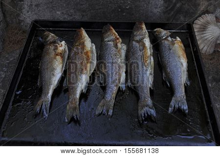 Sea Bass On Grill