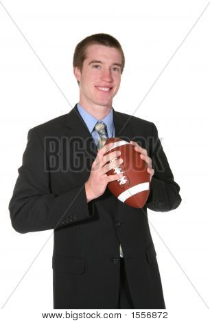 Business Man With Football