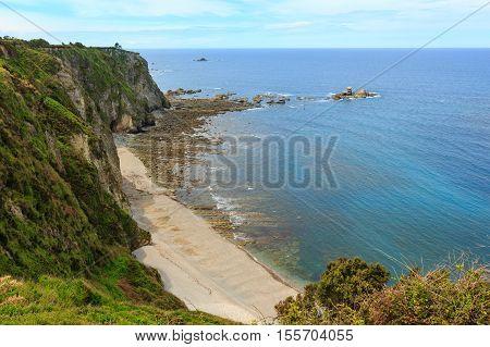 Churin Beach, Asturias, Spain.