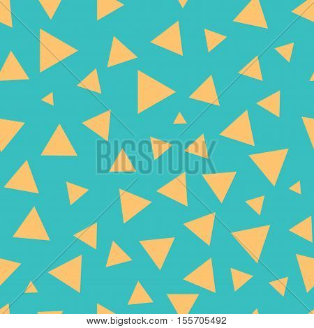 Triangle chaotic seamless pattern. Fashion graphic background design. Modern stylish abstract color texture. Template for prints textiles wrapping wallpaper website etc Stock VECTOR illustration