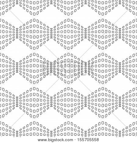 Rhombus chaotic seamless pattern. Fashion graphic background design. Modern stylish abstract monochrome texture. Template for prints textiles wrapping wallpaper website Stock VECTOR illustration