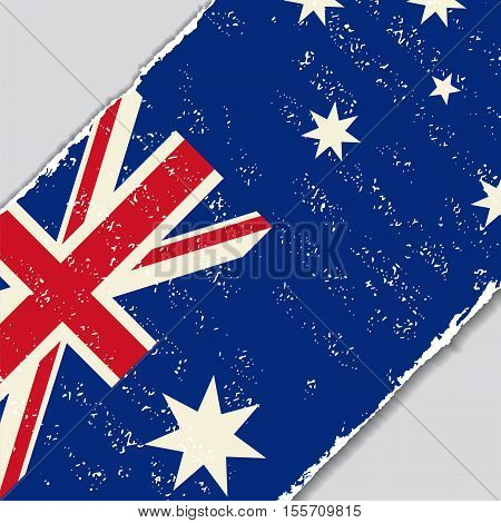 Australian grunge flag diagonal background. Vector illustration.