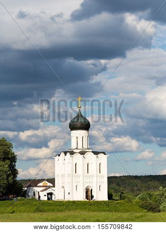 The Church of the Intercession of the Holy Virgin on the Nerl River - an Orthodox church and a symbol of medieval Russia. For centuries the memorial church greeted everyone approaching the palace at Bogolyubovo. In spring the area would be flooded and the