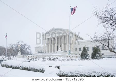 Washington D.C. USA - January 23 2016: Supreme Court of the United States