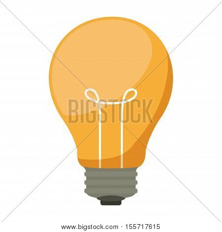 silhouette light bulb with filaments vector illustration