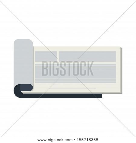 silhouette open cheekbook with text lines vector illustration