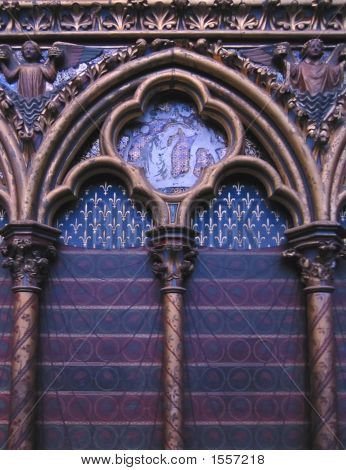Detail Of The Trancept In A Church, Sainte Chapelle, Notre Dame De Paris, Paris, France