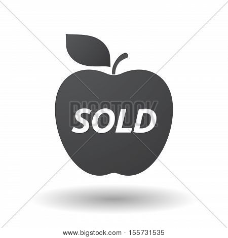 Isolated Apple Fruit With    The Text Sold