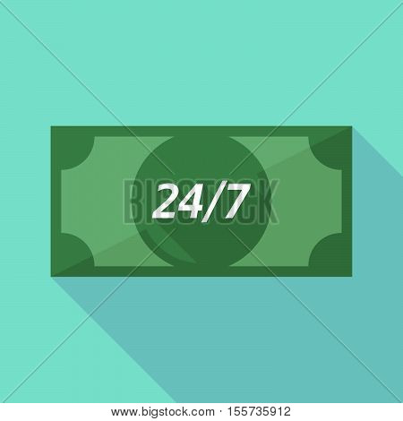 Long Shadow Bank Note With    The Text 24/7