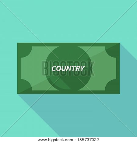 Long Shadow Bank Note With    The Text Country