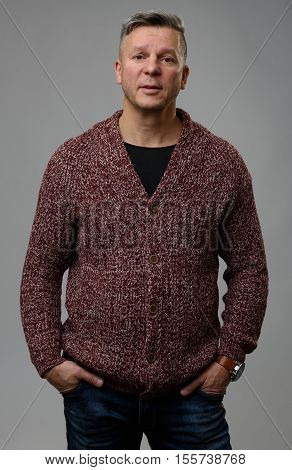 Portrait Of Handsome Middle Aged Man