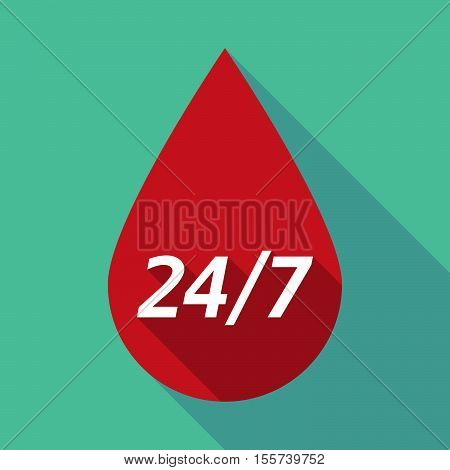 Long Shadow Blood Drop With    The Text 24/7