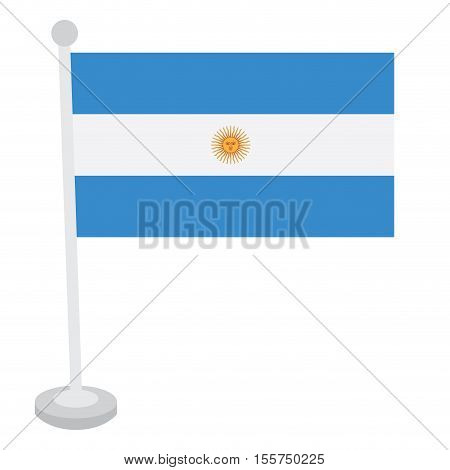 Isolated Argentine Flag