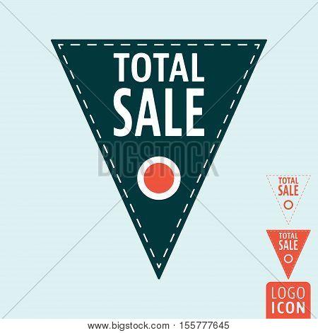 Total sale icon. Promotional sale label symbol. Vector illustration