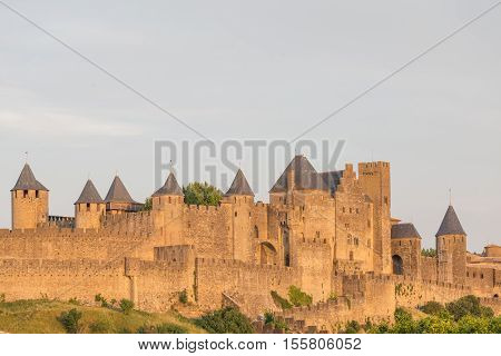 medieval city of Carcassonne Languedoc Roussillon France
