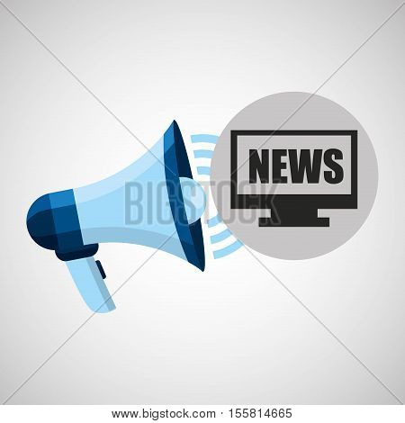 megaphone concept news online pc design vector illustration eps 10